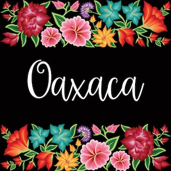Embroidery style from oaxaca mexico  floral template