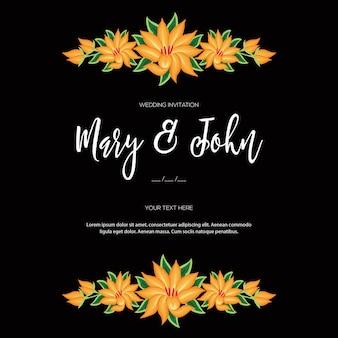 オアハカメキシコ花の結婚式の招待状のテンプレートから刺繡スタイル