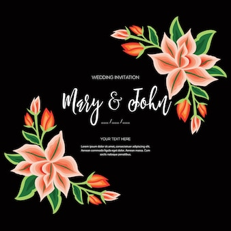 Embroidery style from oaxaca mexico  floral wedding invitation