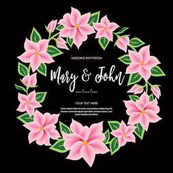 オアハカメキシコの花の結婚式の招待状から刺繡スタイル