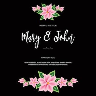 メキシコ、オアハカの刺繡スタイル-花の結婚式の招待状