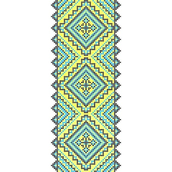 刺繍。ウクライナの国の装飾品の装飾。ベクトルイラスト