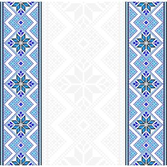 刺繡。ウクライナ国の装飾品。ベクトルイラスト