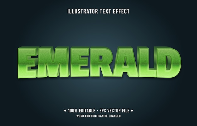 Emerald editable text effect modern gradient style
