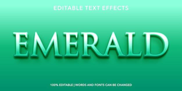 Изумрудный редактируемый текстовый эффект