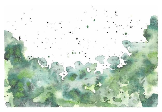 エメラルドグリーンの水彩画の背景