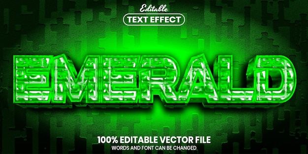 Emerald text, font style editable text effect