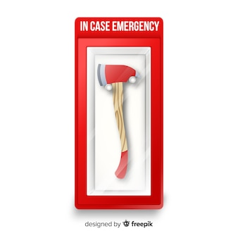 Emergency box with axe