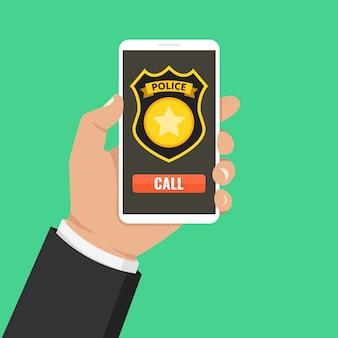 Emergency call 911 concept