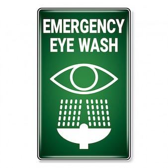 Символ аварийного промывания глаз.