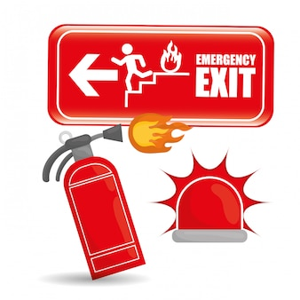 Emergency icon, vector illustration