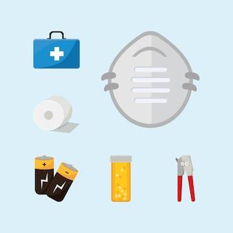 Emergency kit elements set