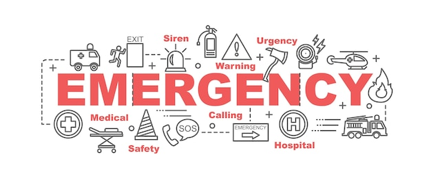 Emergency vector banner