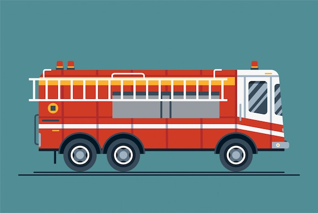 Emergency vehicle fire engine truck