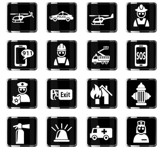 사용자 인터페이스 디자인을 위한 비상 웹 아이콘