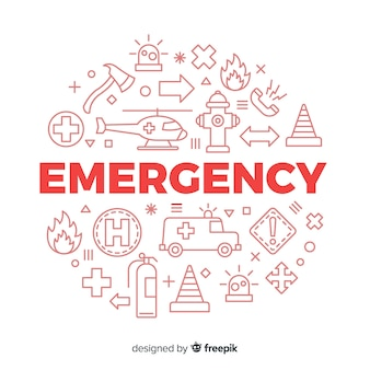 Emergency word concept background