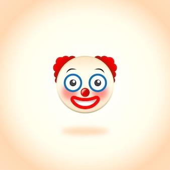 赤い髪の絵文字ピエロ