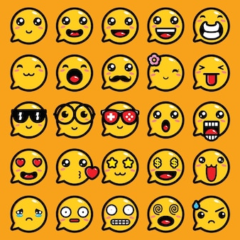 Emoji expression vector chat design