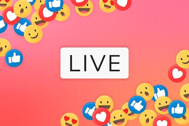 Emoji framed background