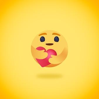 Emoji holding heart