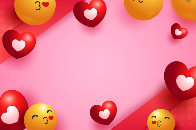 Emoji love background