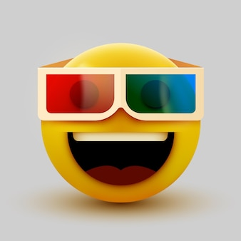 Emoji with 3d glasses