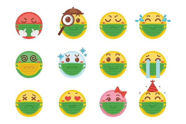 Emoji с маской для лица