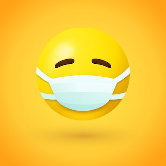 Emoji with mouth mask