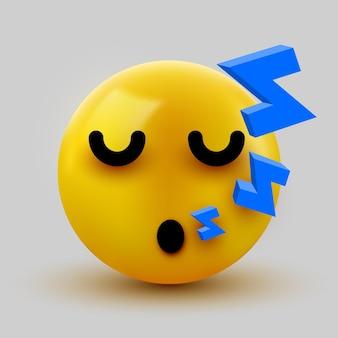 Emoji yellow спящее лицо.