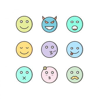 Набор иконок emoji