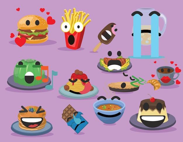 面白い食べ物のemojiesフード&ドリンク絵文字