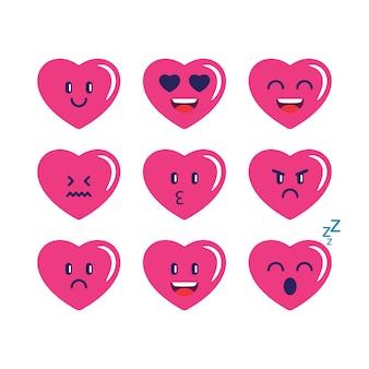Сердце emojis love collection