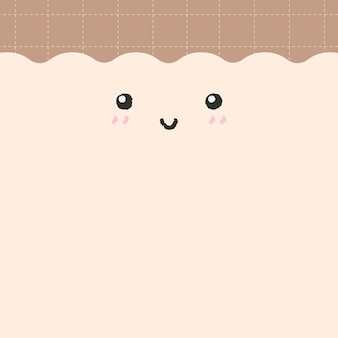 Emoticon background vector cute smiling face with copy space