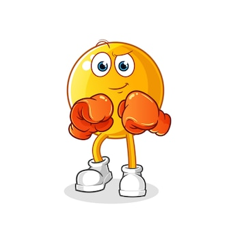 Emoticon boxer character illustration