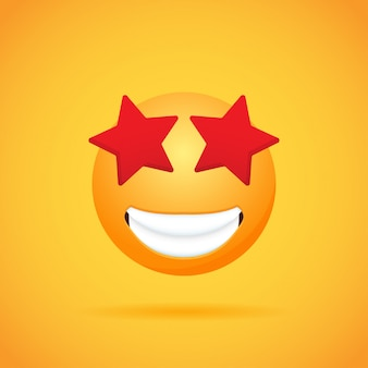 Emoticon cartoon emojis smile for social media on orange .  illustration