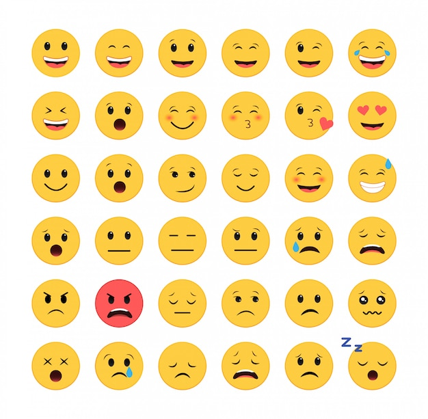 Emoticon icon set. smileys