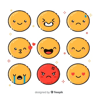 Emoticon reaction collectio