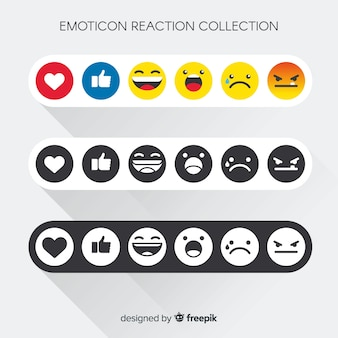 Emoticon reaction collection