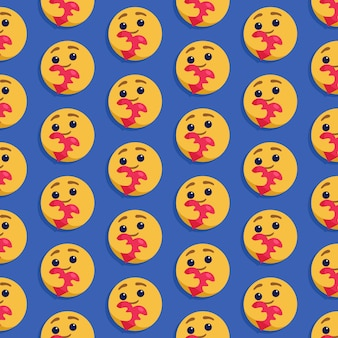 Emoticon seamless pattern wallpaper. cute expression.