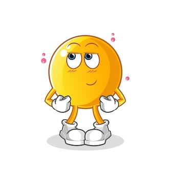Смайлик застенчивый мультипликационный персонаж