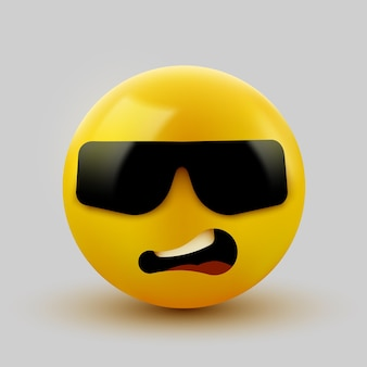 Emoticon with dark sunglasses. like a boss.
