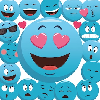Emoticons pattern background