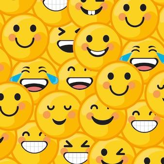 Смайлики улыбающийся узор
