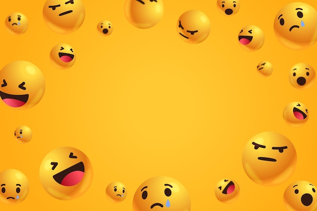 Emoticons with empty space background