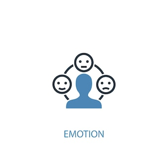 Emotion concept 2 colored icon. simple blue element illustration. emotion concept symbol design. can be used for web and mobile ui/ux