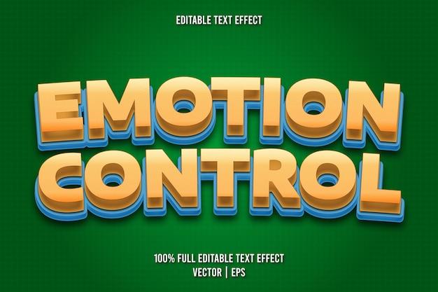 Редактируемый текстовый эффект в стиле комиксов emotion control