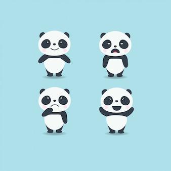 Emotion cute panda set