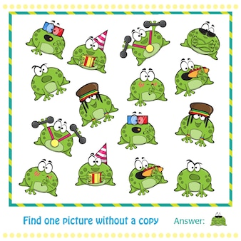 Эмоциональные милые лягушки мультипликационный персонаж - игра для детей
