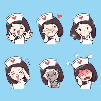Emotional nursing and many gestures.