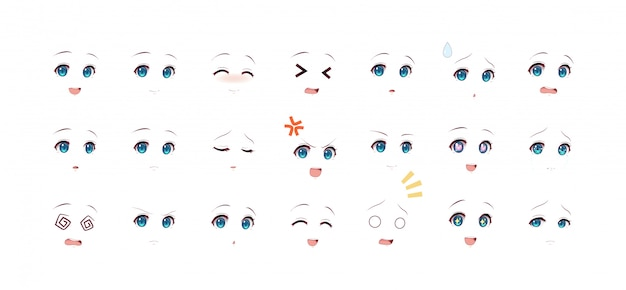 Emotions eyes of anime (manga) girls